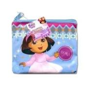Dora 12.7cm x 10.2cm Nylon Cosmetic Bag with Zipper & Hangtag