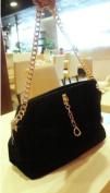 Fashion Woman Genuine Chamois Leather Casual Shoulder Handbag w/ Free Small Cosmetic Bag