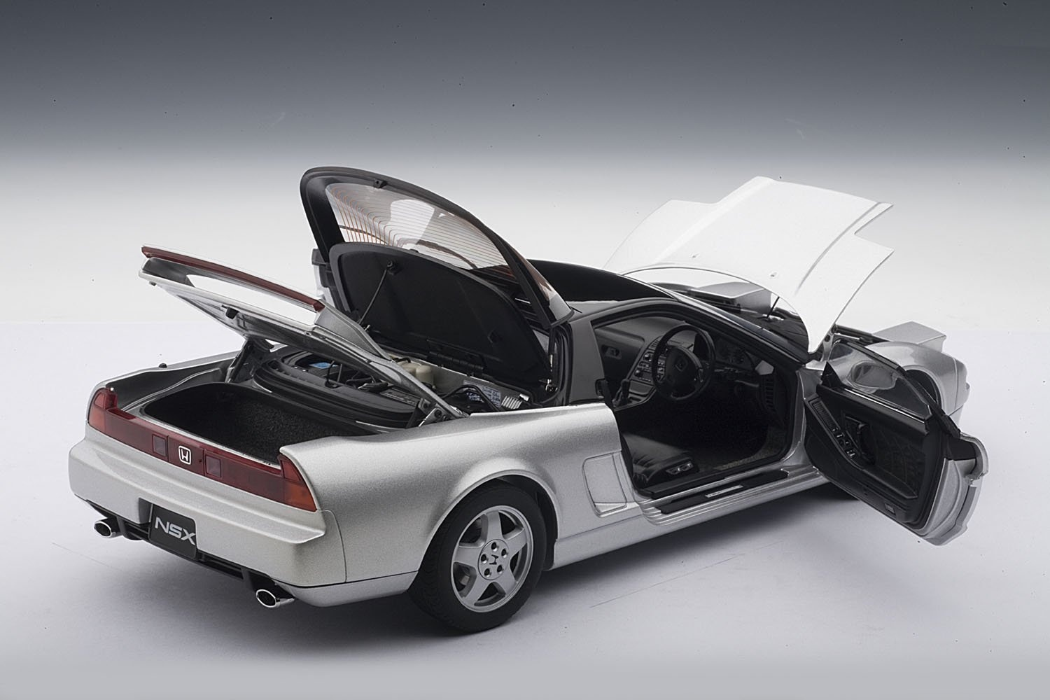 honda nsx 1990 silver 1 18 scale diecast model free shipping ebay. Black Bedroom Furniture Sets. Home Design Ideas