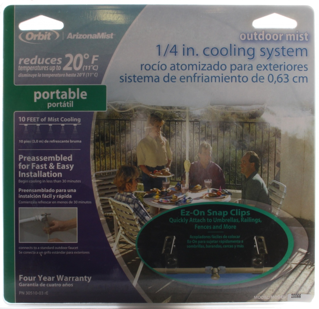 Orbit Misting System : Orbit portable cm outdoor patio cooling misting system