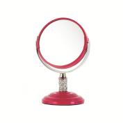 Danielle Enterprises 4X Magnification Mirror, Pink Crystal, Mini
