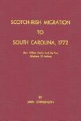 Scotch-Irish Migration to South Carolina, 1772