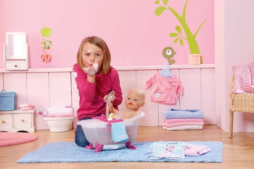 baby born interactive bathtub with duck brand new ebay. Black Bedroom Furniture Sets. Home Design Ideas