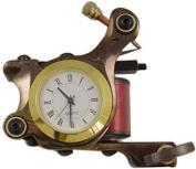 Damascus Tattoo Machine Gun With Clock - Tattoo Machine Supply