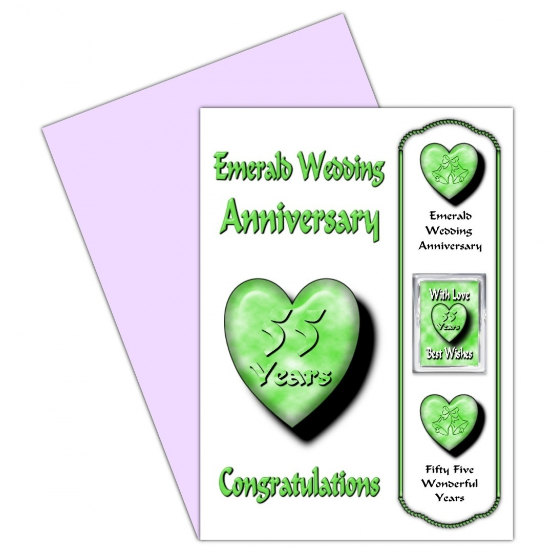 Wedding Anniversary Gifts 55 Years : ... Wedding Anniversary Card With Removable Magnet Gift 55 Years EM eBay