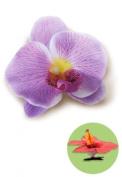 Isle Heritage Hair Clip Silk Flower Orchid Purple