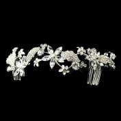 Carla Rhinestone & Pearl Floral Vine Wedding Bridal Tiara Headband