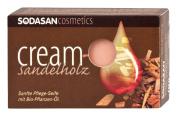 Sodasan Organic Cream Soap - Sandal Wood 100g - PRAs19004