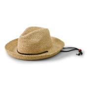 Kids' Raffia Hat with Chin Strap