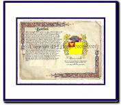 Bottini Coat of Arms/ Family History Wood Framed