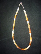 Gorgeous Mexican Jelly Opal Faceted Rhondel Beads Necklace dl