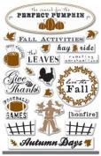 Autumn Days Art Warehouse Epoxy Scrapbook Stickers
