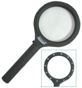 7.6cm - 1cm LED Illuminated XL Magnifier-- Runs on (2) 'AA' Batteries