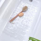 (Clear) Sea of Circles Bath & Shower Mat Non-slip