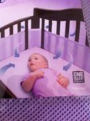 BreathableBaby Mesh Crib Liner Solid Purple