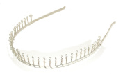Useful Silver effect Metal wire comb head band , Alice band ,Ideal Everyday wear