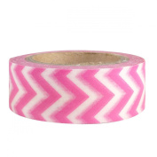 Pink Chevron Japanese Washi Tape - *15mm x 15M* - TWILIGHT PARTIES