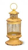 Yellow Iron Basket Lantern
