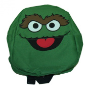 Sesame Street Oscar The Grouch Face Cartoon TV Show Mini Backpack