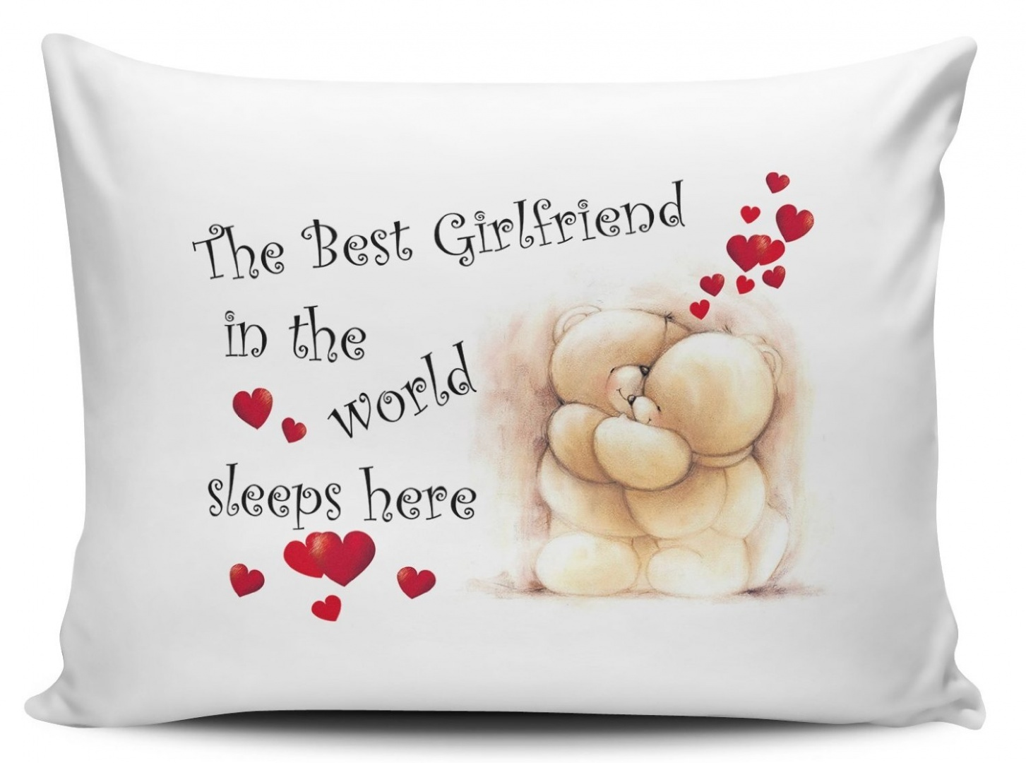The Best Girlfriend In The World Sleeps Here Pillow Cases - Cute Bears 11street Malaysia ...