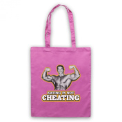 Inspired by Arnold Schwarzenegger Eating Is Not Cheating Unofficial Tote Bag
