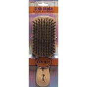 Annie Natural Boar Bristle Hard Club Brush #2061 - 2 pieces, Reinforced boar bristles, reinforced bristles, wavy hair, straight hair, long hair, short hair, no more tangles, detangler