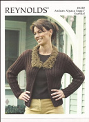 Reynolds Andean Alpaca Regal / Scandal Collared Caridgan & Mittens Knitting Pattern 82280