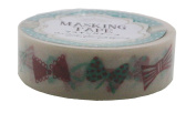 Amifa Cute Coral and Aqua Bows Edition Washi Masking Deco Tape Standard