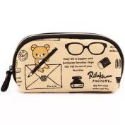 beige Rilakkuma brown bear lens case pouch by San-X