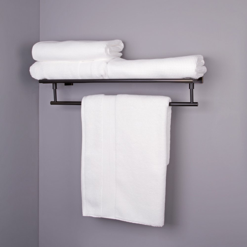Allure 60cm Square Design Hotel Style Rack And Towel Bar