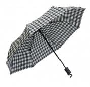 Frankford Umbrellas RM01-PL Mini Triple fold Umbrella - Black and White Plaid