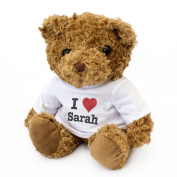 NEW - I LOVE SARAH - Teddy Bear - Cute And Cuddly - Gift Present Birthday Xmas Valentine