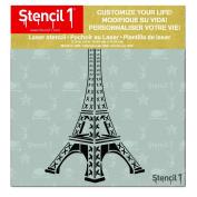Stencil1 Eiffel Tower 15cm X 15cm