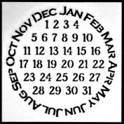 15cm x 15cm Never Ending Calendar Stencil by Carolyn Dube