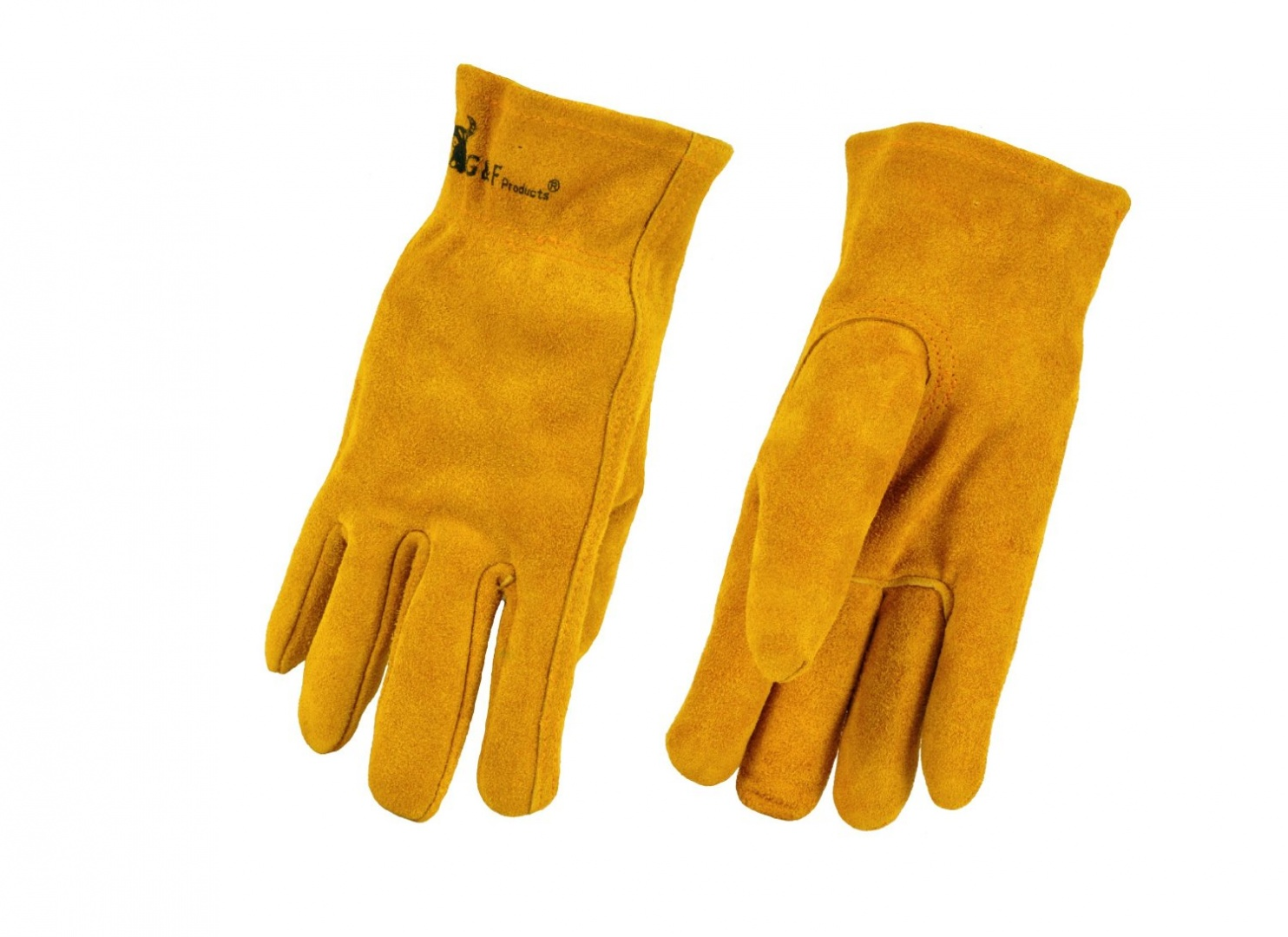 Kinco 94C (2-Pack) - Leather Work Gloves for Kids - Very Soft and Durable Pigskin Leather - Lightweight Hand Protection for those Little Hands - No Break in Needed.