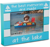Pavilion Gift Company We Baby The Best Memories are Made at The Lake Picture Frame, Teal, 15cm x 10cm