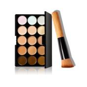 Makeup tools, Towallmark 15 Colours Makeup Concealer Contour Palette + Makeup Brush