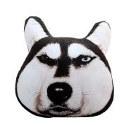 Smile YKK Wacky 3D Animal Dog Car Head Neck Travel Seat Hold Pillow Black B 45cm