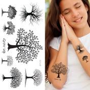 Supperb® Temporary Tattoos - Black & White Trees