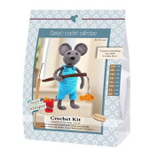 Go Handmade Arno The Mouse 22cm Crochet Needlework Kit, All Parts & Materials Included!