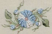 Cast-on Daisy - Edmar kit #1228, Brazilian embroidery KIT, Black Fabric