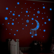 Creazy A Set Kids Bedroom Fluorescent Glow In The Dark Stars Wall Stickers