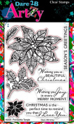 Dare 2B Artzy Poinsettia Tangle (16223) Clear Cling Rubber Stamps
