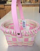 Pink Baby Wicker Basket