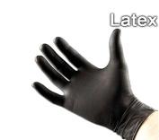VideoPUP 100 Black Latex Powder Free Medical Exam Tattoos Piercing Gloves Size large