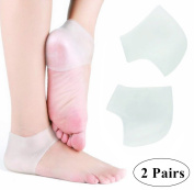 webueat Silicone Moisturising Gel Heel Socks Foot Care Protector, White
