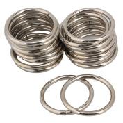 Silver Metal O Shaped Webbing Belts Buckle For 38mm Width Strap Adjuster Pack Of 20