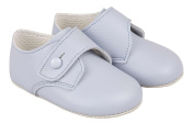 Luxury British Made Baby Boy Pale Blue, White, Cream/Ivory and Shiny Black Special Occassion Wedding Birthdays Christening Baypods Shoes by Early Days