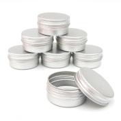 10 x 15ml Aluminium Lip Balm Pots 15ml Capacity Empty Small Mini Cosmetic/Lip Gloss/Nail Art Pots Tins Jars