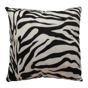 DonnieAnn Bellagio White Polyester 46cm x 46cm Animal Skin-print Accent Pillow